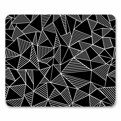 Abstraction Lines With Blocks - personalised mouse mat by Emeline Tate