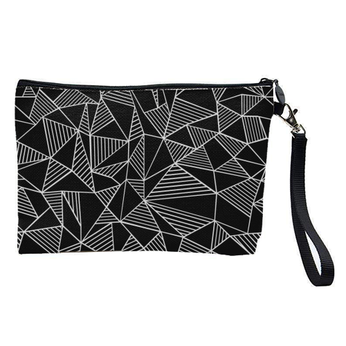 Abstraction Lines With Blocks - pretty makeup bag by Emeline Tate