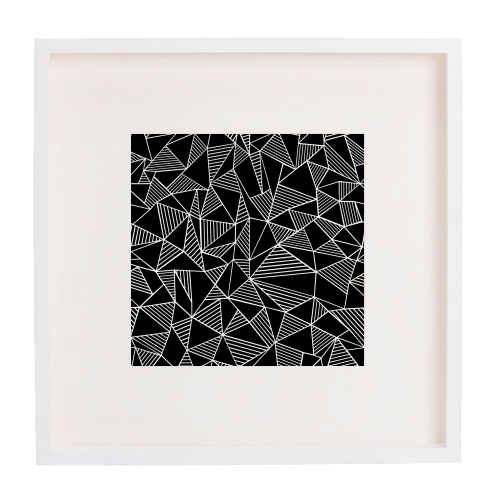 Abstraction Lines With Blocks - printed framed picture by Emeline Tate