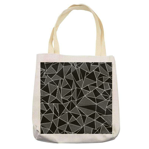 Abstraction Lines With Blocks - printed tote bag by Emeline Tate