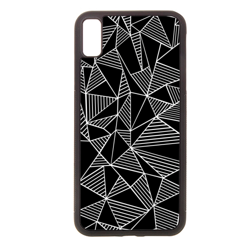 Abstraction Lines With Blocks - Rubber phone case by Emeline Tate