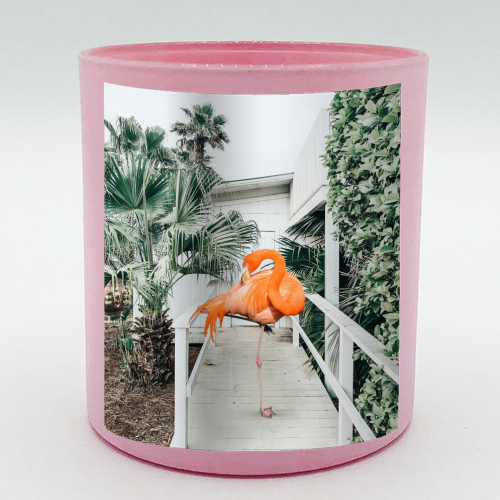 Flamingo Beach House - Candle by Uma Prabhakar Gokhale