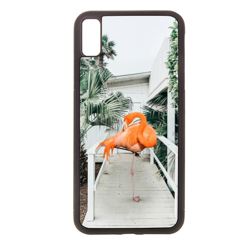 Flamingo Beach House - Rubber phone case by Uma Prabhakar Gokhale