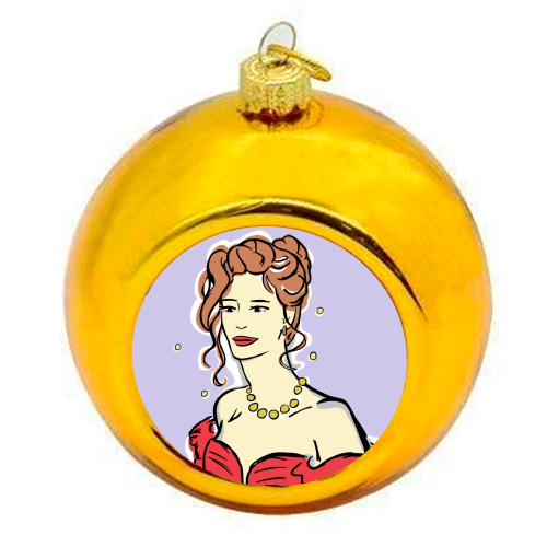 Vivian - colourful christmas bauble by Bec Broomhall