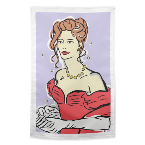 Vivian - funny tea towel by Bec Broomhall