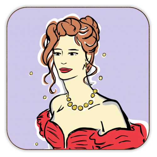 Vivian - personalised drink coaster by Bec Broomhall