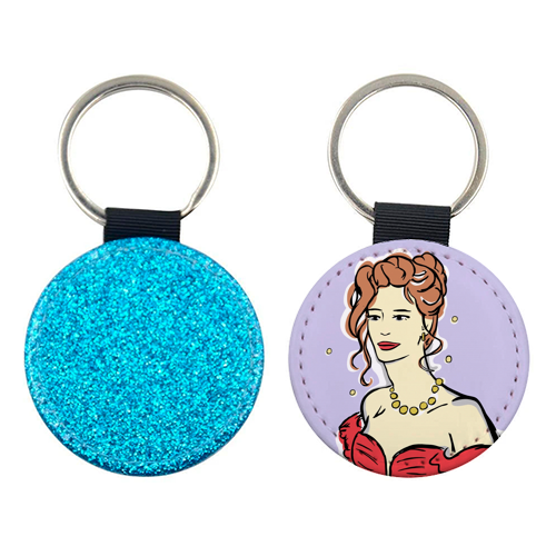 Vivian - personalised picture keyring by Bec Broomhall