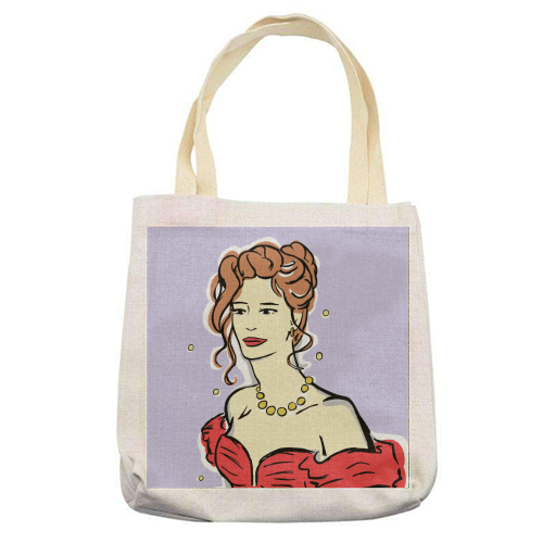 Vivian - printed tote bag by Bec Broomhall