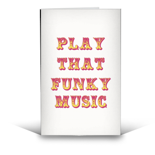 Funky - funny greeting card by Cheryl Boland
