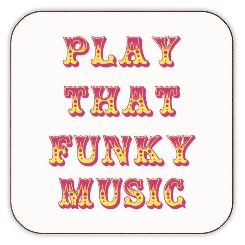 Funky - personalised drink coaster by Cheryl Boland