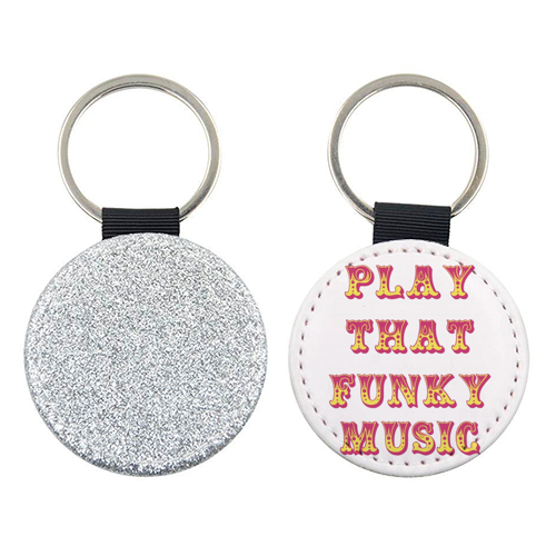 Funky - personalised leather keyring by Cheryl Boland