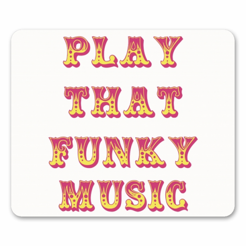 Funky - personalised mouse mat by Cheryl Boland