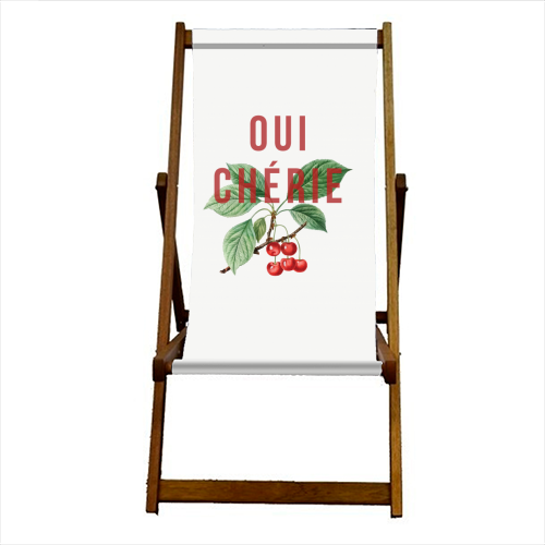 Oui Cherie - canvas deck chair by The 13 Prints