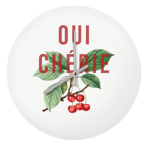 Oui Cherie - creative clock by The 13 Prints