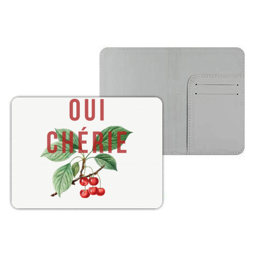 Oui Cherie - designer passport cover by The 13 Prints