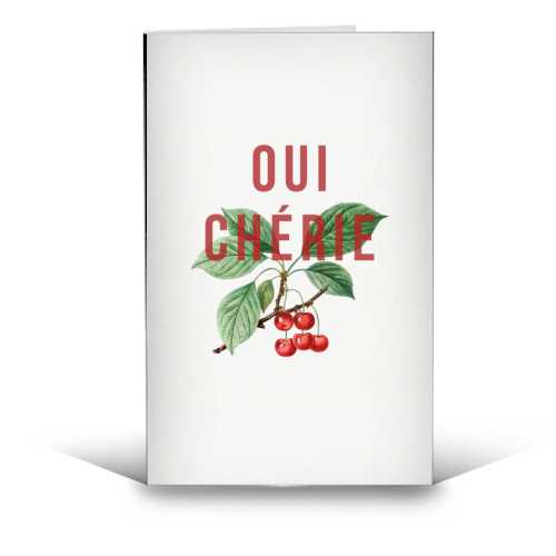 Oui Cherie - funny greeting card by The 13 Prints