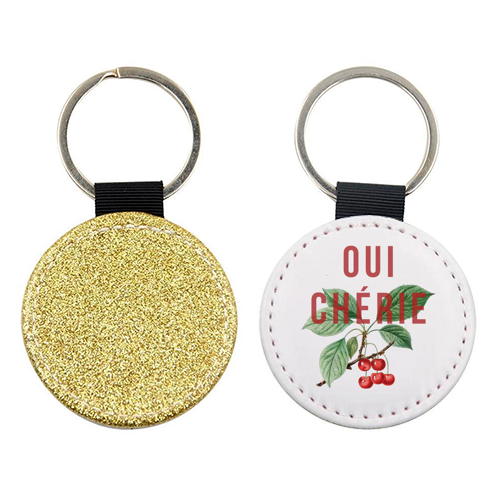 Oui Cherie - personalised leather keyring by The 13 Prints