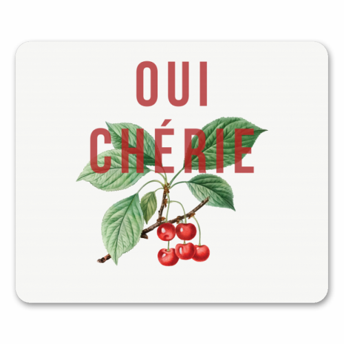 Oui Cherie - personalised mouse mat by The 13 Prints