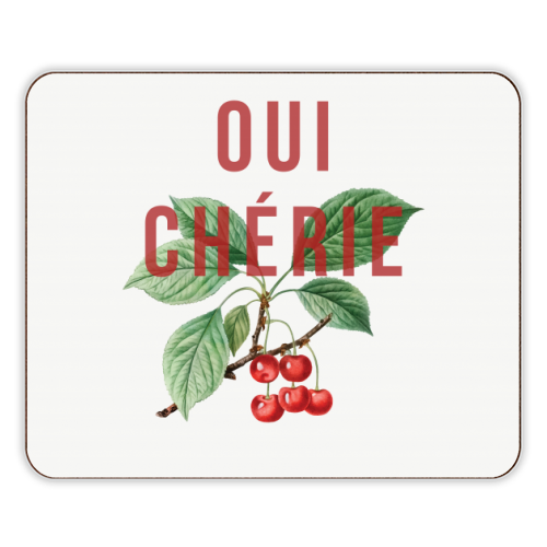 Oui Cherie - photo placemat by The 13 Prints