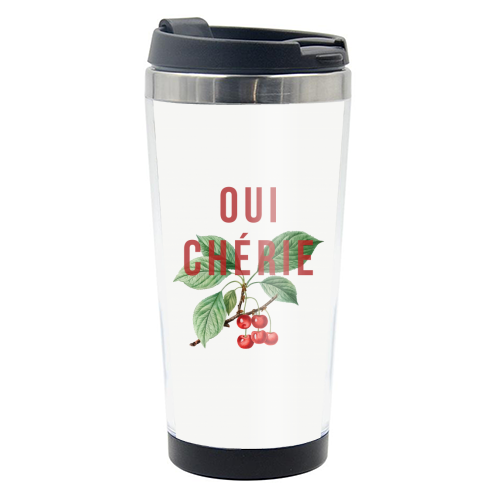 Oui Cherie - travel water bottle by The 13 Prints
