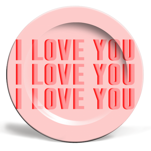 I Love You - ceramic dinner plate by The 13 Prints
