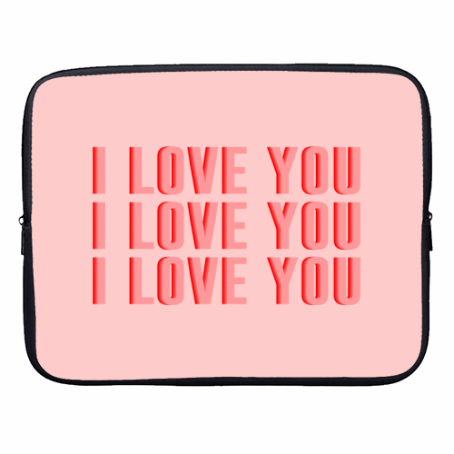 I Love You - designer laptop sleeve by The 13 Prints