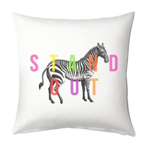 Stand Out - designed cushion by The 13 Prints