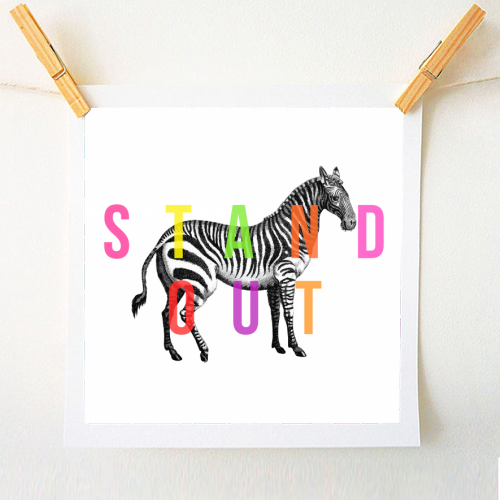 Stand Out - original print by The 13 Prints