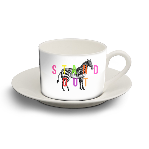Stand Out - personalised cup and saucer by The 13 Prints