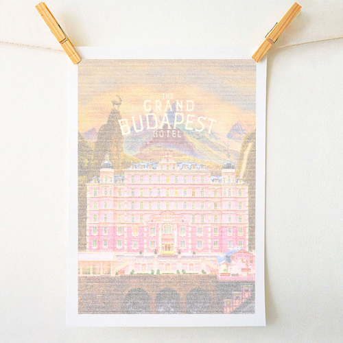 The Grand Budapest Hotel Screenplay Print - original print by RoboticEwe