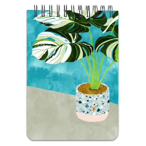 Variegated Monstera - designed notebook by Uma Prabhakar Gokhale