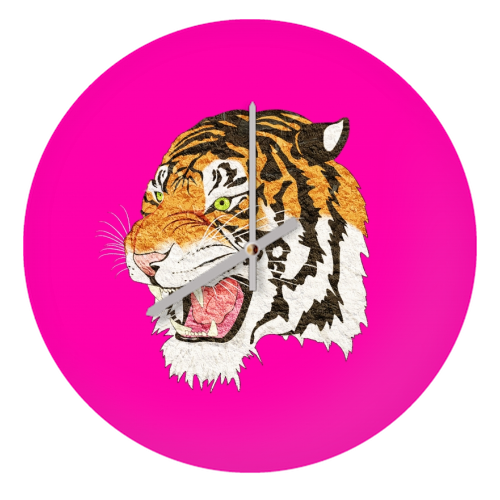 Easy Tiger - creative clock by Wallace Elizabeth