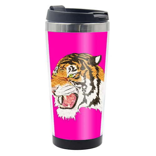 Easy Tiger - travel water bottle by Wallace Elizabeth