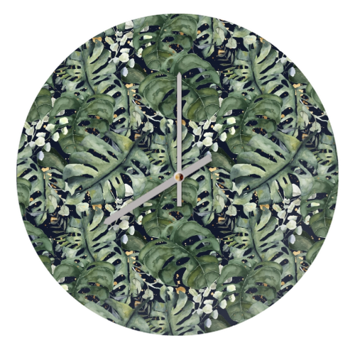 Tropical Blooms - creative clock by Natalie Hancock