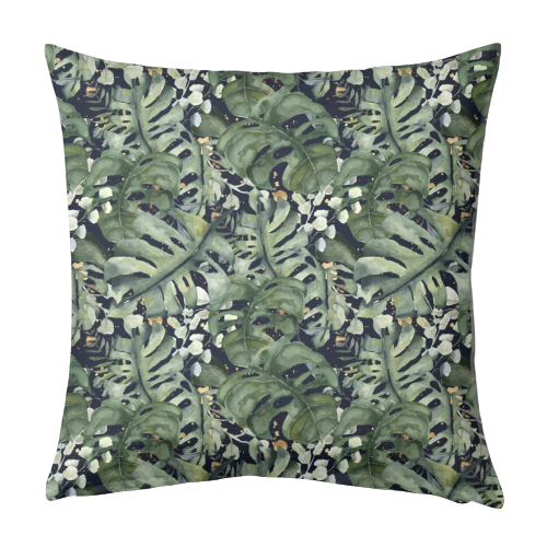 Tropical Blooms - designed cushion by Natalie Hancock