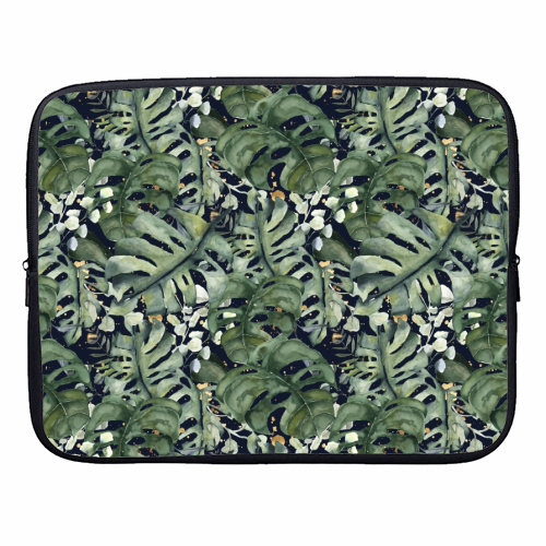 Tropical Blooms - designer laptop sleeve by Natalie Hancock
