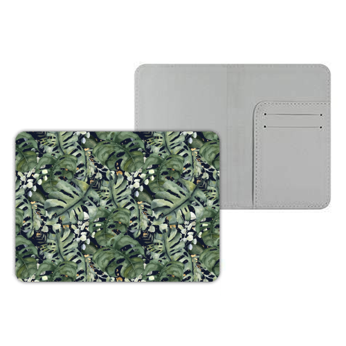 Tropical Blooms - designer passport cover by Natalie Hancock