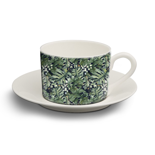 Tropical Blooms - personalised cup and saucer by Natalie Hancock