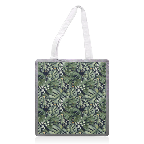 Tropical Blooms - printed tote bag by Natalie Hancock