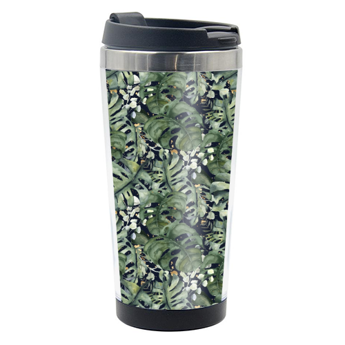 Tropical Blooms - travel water bottle by Natalie Hancock