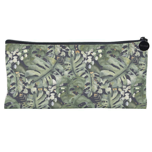 Tropical Blooms - unique pencil case by Natalie Hancock