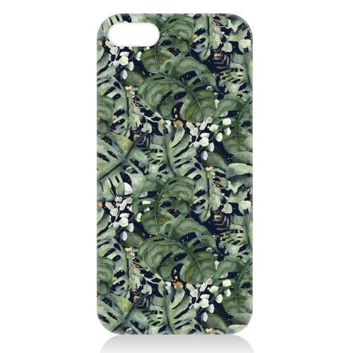 Tropical Blooms - unique phone case by Natalie Hancock