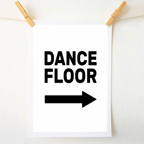 Dance Floor (right) - original print by The Native State