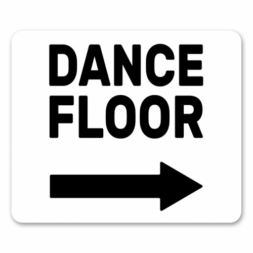 Dance Floor (right) - personalised mouse mat by The Native State