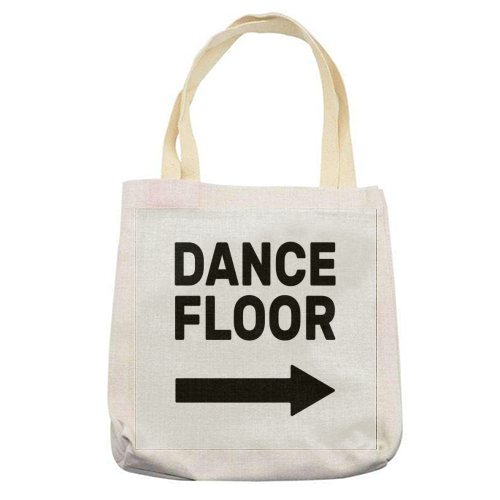 Dance Floor (right) - printed tote bag by The Native State