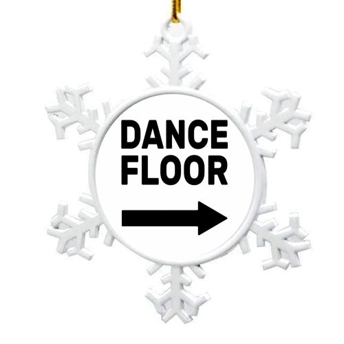 Dance Floor (right) - snowflake decoration by The Native State