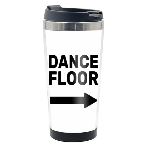 Dance Floor (right) - travel water bottle by The Native State