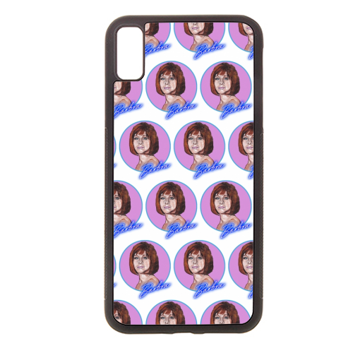 Barbra Streisand - Rubber phone case by Thom Kofoed
