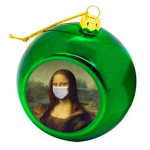 Rona Lisa - colourful christmas bauble by Wallace Elizabeth