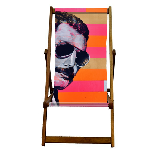 Freddie Mercury - canvas deck chair by Kirstie Taylor